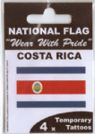 Costa Rica Country Flag Tattoos.